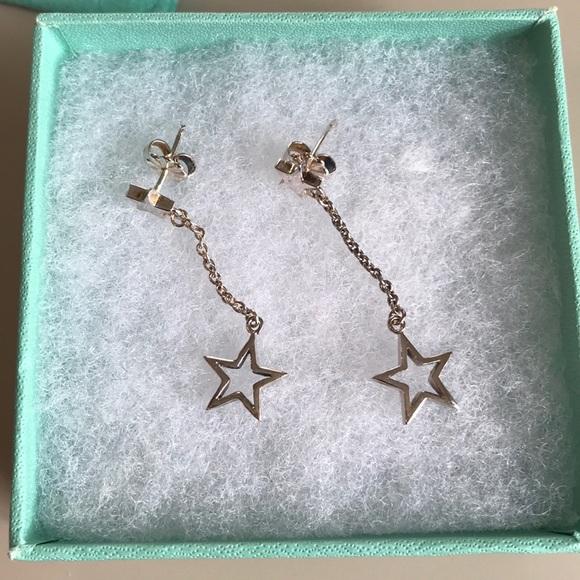 e4df89c35 Authentic Tiffany & Co. rare star drop earrings. M_5ab178991dffda274555a56f